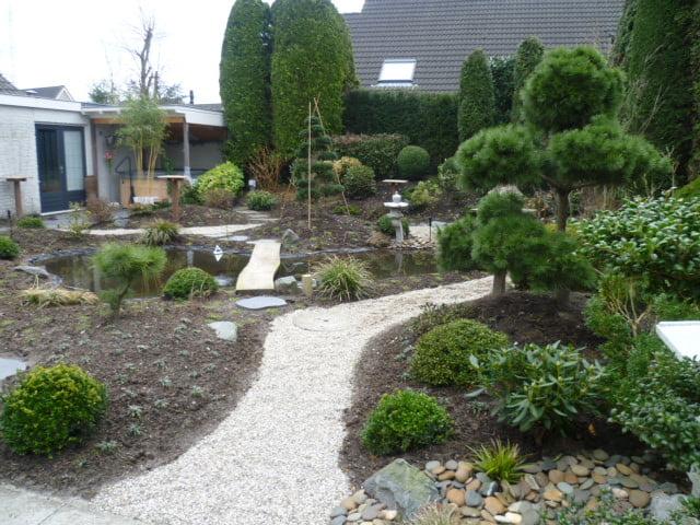 Japanse tuin met vijver in Schijndel
